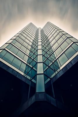 Upward shot of the one university avenue building in Toronto