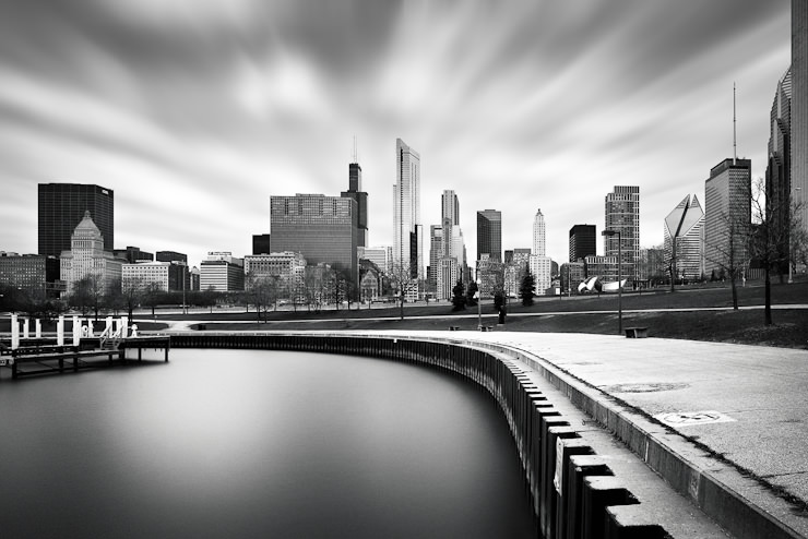 Chicago Skyline Long Exposure